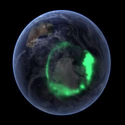 宇宙から見たオーロラ イメージ