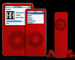 image : red iPod