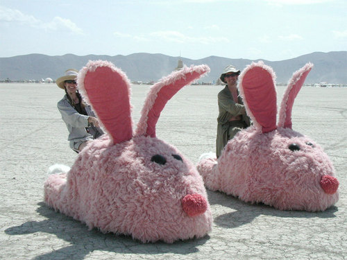 Electric Bunny Slippers