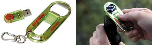 USB Flash Drive + Bottle Opener + keychain